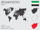 Set of Infographic Elements for the Country of Afghanistan — Stockvector