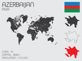 Set of Infographic Elements for the Country of Azerbaijan — Stock Vector