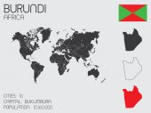 Set of Infographic Elements for the Country of Burundi — Stock Vector
