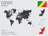 Set of Infographic Elements for the Country of Congo — Stockvector