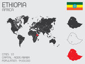 Set of Infographic Elements for the Country of Ethiopia — Stockvector