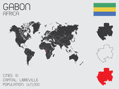Set of Infographic Elements for the Country of Gabon — Stockvector