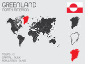 Set of Infographic Elements for the Country of Greenland — Stockvector