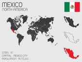 Set of Infographic Elements for the Country of Mexico — Stockvector