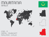 Set of Infographic Elements for the Country of Mauritania — Stockvector