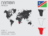Set of Infographic Elements for the Country of Namibia — Stockvector
