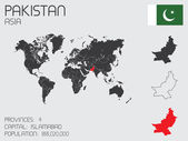 Set of Infographic Elements for the Country of Pakistan — Stockvector