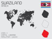 Set of Infographic Elements for the Country of Swaziland — Stockvector
