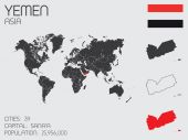 Set of Infographic Elements for the Country of Yemen — Stockvector