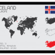 Set of Infographic Elements for the Country of Iceland — Stock Vector #55756041