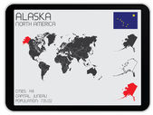 Set of Infographic Elements for the Country of Alaska — Vettoriale Stock