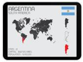 Set of Infographic Elements for the Country of Argentina — Stock Vector