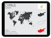 Set of Infographic Elements for the Country of Cyprus — Stock Vector