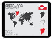 Set of Infographic Elements for the Country of Greenland — Stock Vector
