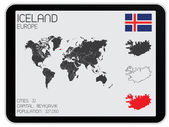 Set of Infographic Elements for the Country of Iceland — Vecteur