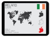Set of Infographic Elements for the Country of Ireland — Stock Vector