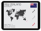 Set of Infographic Elements for the Country of New Zealand — Stock Vector