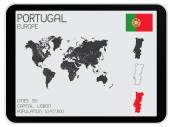 Set of Infographic Elements for the Country of Portugal — Stock Vector
