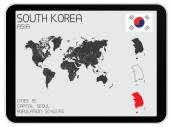 Set of Infographic Elements for the Country of South Korea — Stock Vector