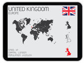 Set of Infographic Elements for the Country of United Kingdom — Vector de stock