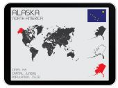 Set of Infographic Elements for the Country of Alaska — 图库照片