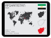 Set of Infographic Elements for the Country of Afghanistan — Stock Photo