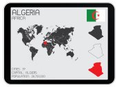 Set of Infographic Elements for the Country of Algeria — Foto de Stock