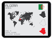 Set of Infographic Elements for the Country of Algeria — Stok fotoğraf