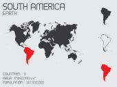 Set of Infographic Elements for the Country of South America — Stock Photo