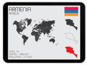 Set of Infographic Elements for the Country of Armenia — Stock Photo