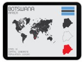 Set of Infographic Elements for the Country of Botswana — Stock Photo