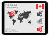 Set of Infographic Elements for the Country of Canada — Stock Photo