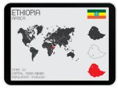 Set of Infographic Elements for the Country of Ethiopia — Stock Photo