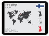 Set of Infographic Elements for the Country of Finland — Stockfoto