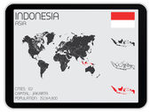 Set of Infographic Elements for the Country of Indonesia — Stock Photo