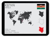 Set of Infographic Elements for the Country of Kenya — Stock Photo