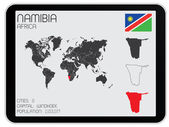 Set of Infographic Elements for the Country of Namibia — Stockfoto