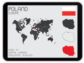 Set of Infographic Elements for the Country of Poland — Stock Photo