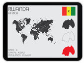 Set of Infographic Elements for the Country of Rwanda — Stock Photo