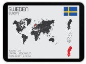 Set of Infographic Elements for the Country of Sweden — Stock Photo