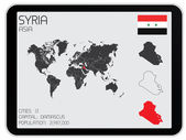 Set of Infographic Elements for the Country of Syria — Stock Photo