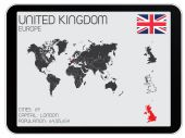 Set of Infographic Elements for the Country of United Kingdom — Stock Photo