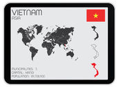 Set of Infographic Elements for the Country of Vietnam — Stock Photo