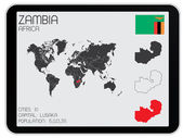 Set of Infographic Elements for the Country of Zambia — Stock Photo