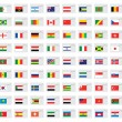 Illustrated Set of World Flags - Tags — Stock Vector #56056937