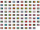 Illustrated Set of World Flags - Frames — Stock Vector