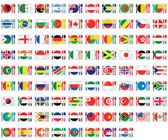Illustrated Set of World Flags - Cuttlery — Stock Vector