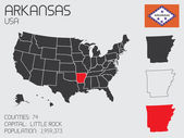 Set of Infographic Elements for the State of Arkansas — Stock Photo