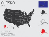 Set of Infographic Elements for the State of Alaska — Zdjęcie stockowe