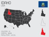 Set of Infographic Elements for the State of Idaho — Stock Photo